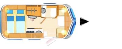 2020 Eriba Ocean Drive 530 caravan floorplan