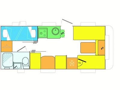 Caravelair Antares 496 floorplan