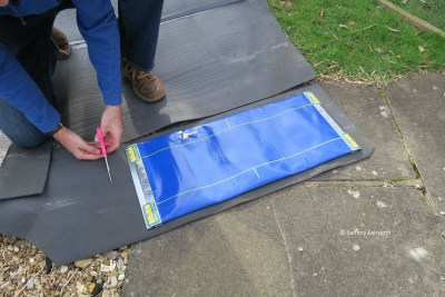 Place a matting under the Lock 'n' Level to prevent damage