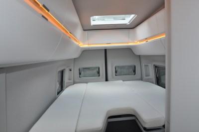 Volkswagen Grand California 680 motorhome bed