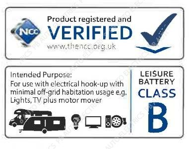 NCC approved leisure battery