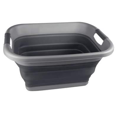 OlPro Foldable Laundry Basket Ebony Grey