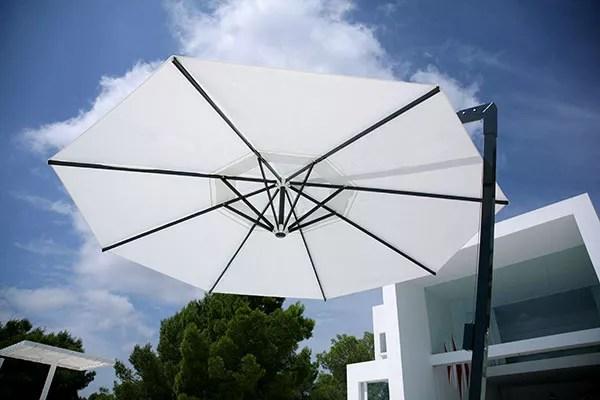 Sonnenschirm Amalfi rund weiß