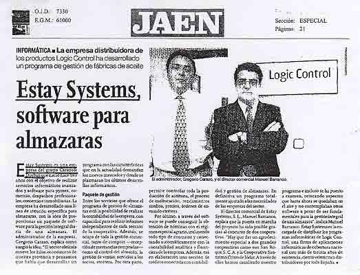 software almazaras Estay Systems