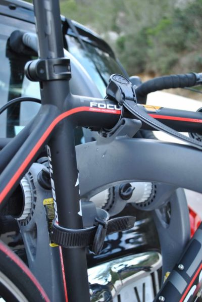 peugeot 308 SW Estate bike rack ratchet strap details