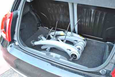 Audi A4 estate Bike Rack fits into boot