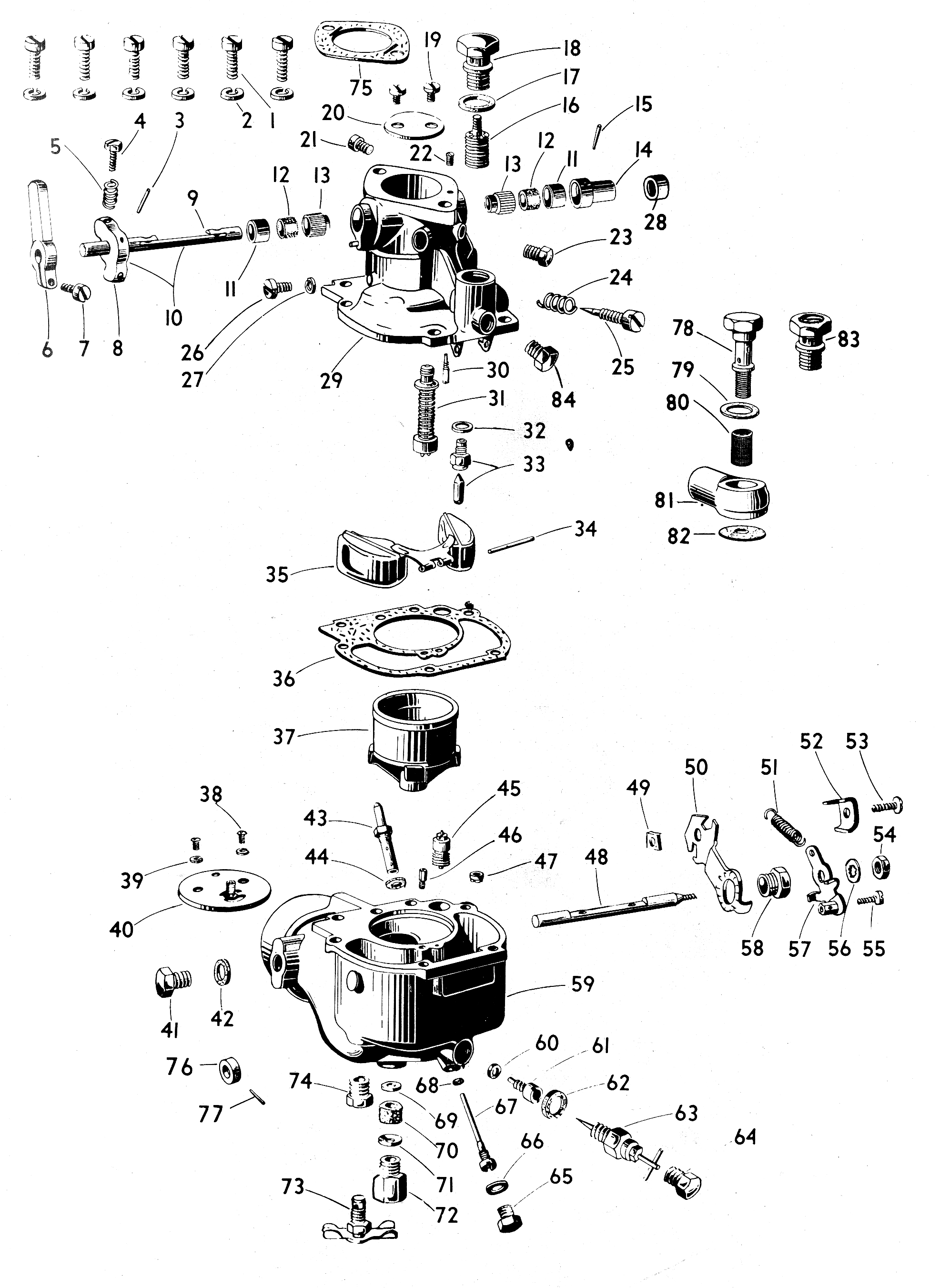 Zenith S33 Carburetor Kit Float And Manual