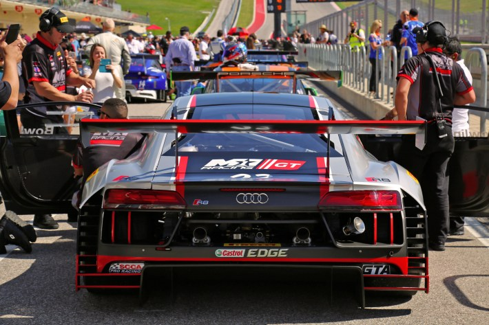 Pirelli World Challenge Audi R8 and Fans