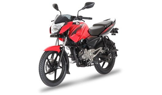 Bajaj Pulsar 135LS Cocktail Wine Red front angle images