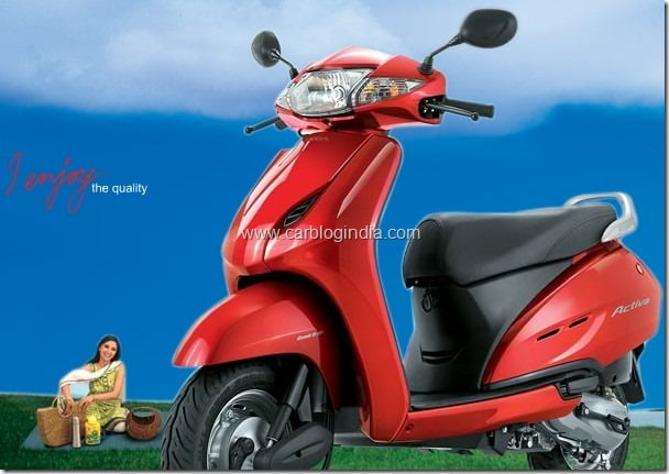 Honda Motorcycles And Scooters India Sales Report February 2012