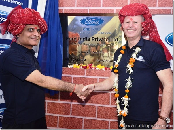 Ford India Gujarat Plant Ground Breaking Ceremony