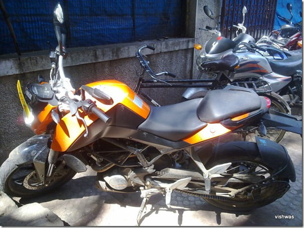 KTM Duke 200 Spy Pictures India (1)