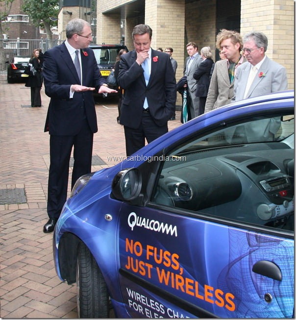 qualcomm wireless car charging demonstration