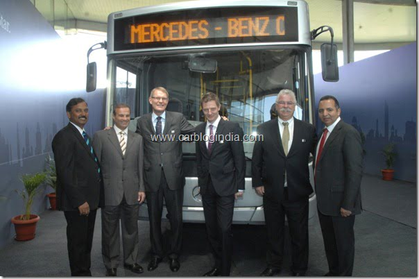 Launch of Mercedes Benz City Bus At Pune India on 9th March 2012