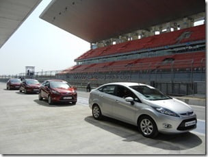 Ford Fiesta 2012 PowerShift Automatic Track Test Drive Review (48)