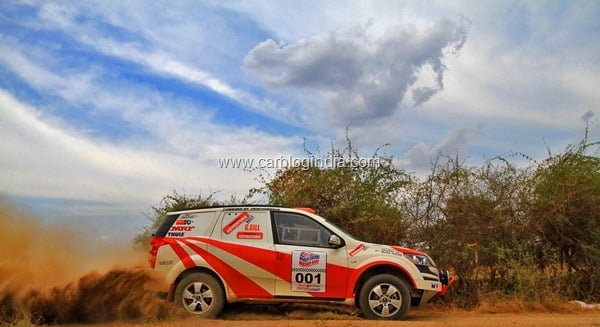 Mahindra Adventure team XUV500 At Dakshin Dare Rally 2012- Side View