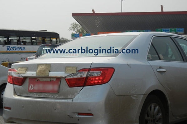 2012 Toyota Camry India Spy Pictures By CarBlogIndia.com (2)