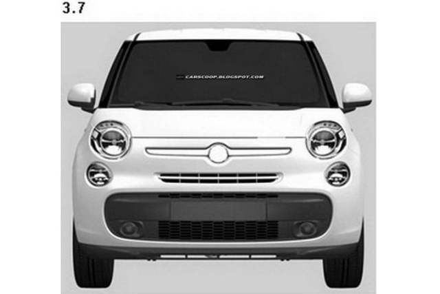 Fiat 500 XL Patent Drawings (2)