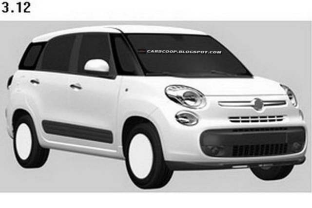 Fiat 500 XL Patent Drawings (6)
