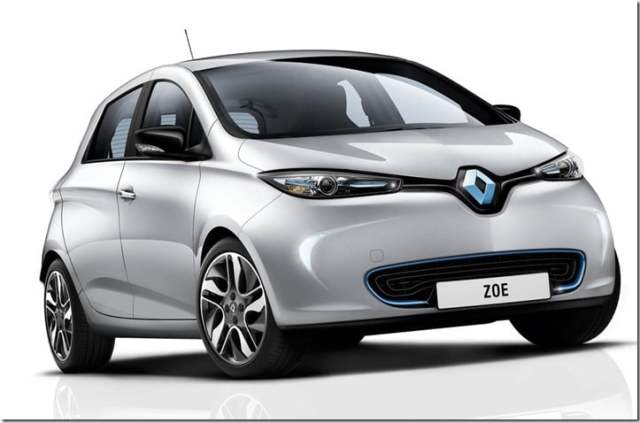 Renault ZOE Small Car angle