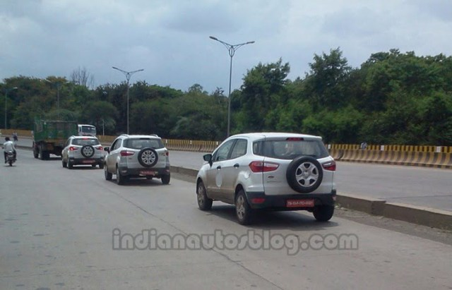 Ford Ecosport Caught Testing In Pune rear