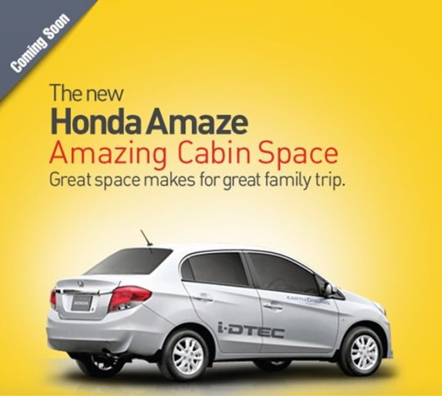 Honda Amaze Marketing Capmaign Banner