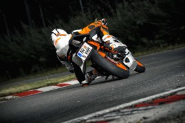 2014 KTM RC 390 Rear Leaning Left