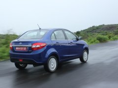 2014 Tata Zest Rear Right Quarter Dynamic