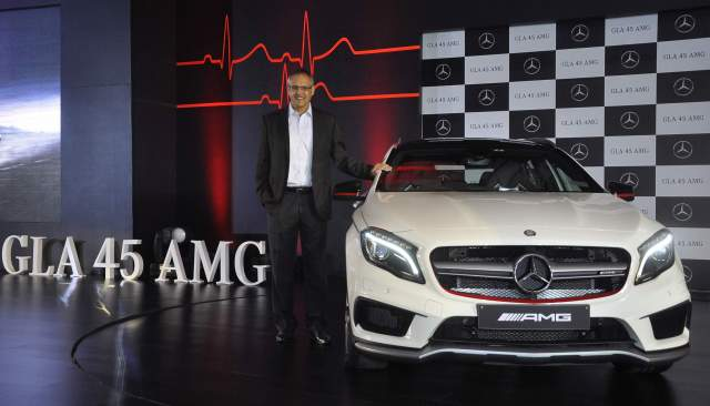 Mr.Eberhard Kern, Managing Director & CEO, Mercedes-Benz India at the launch of GLA 45 AMG 4Matic in Mumbai_3