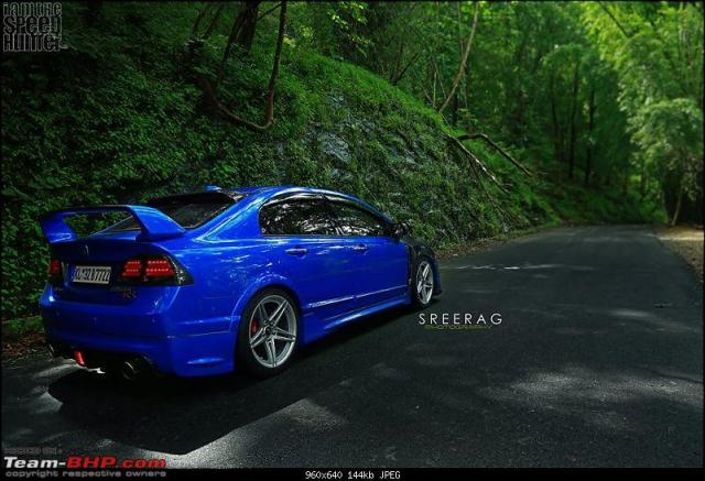 modified-honda-civic-in-kerela-blue-rear-angle-2