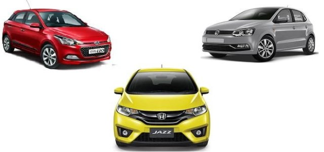 Honda Jazz vs Hyundai i20 vs VW Polo