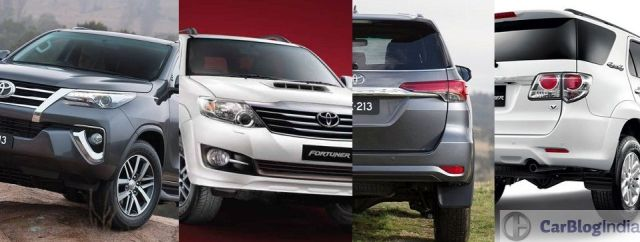 toyota fortuner old vs new