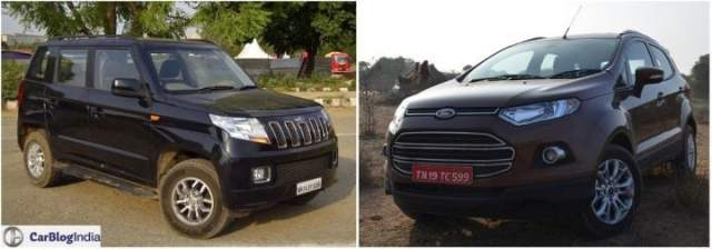 mahindra tuv300 vs ford ecosport comparison with images, specification, features,