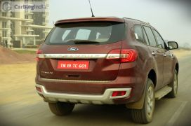 new ford endeavour review action photo rear