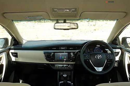 Toyota Corolla Altis Diesel Test Drive Review Photos Interior Dashbaord