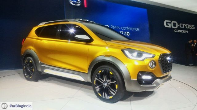Upcoming Nissan Cars in India 2017 | Upcoming New Datsun Cars in India datsun-go-cross-concept-images-auto-expo-2016-front-angle