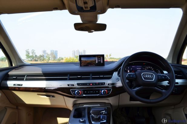2016 Audi Q7 test Drive review dashboard