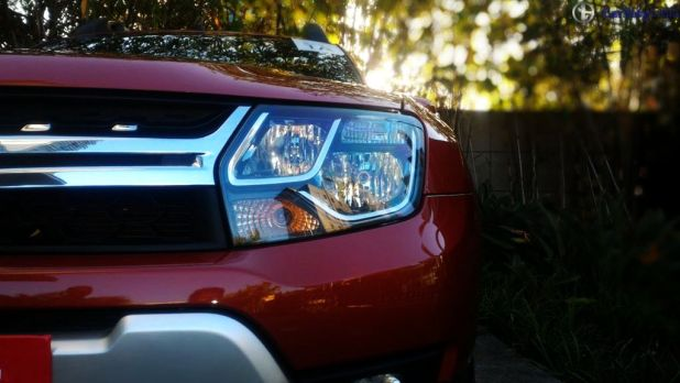 new 2016 Renault Duster Automatic Test Drive Review headlamp