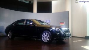 mercedes maybach s600 guard india launch side angle