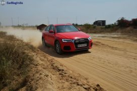 2015 audi q3 test drive review images action shot front angle