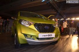 2016 datsun redi go official launch green front angle low