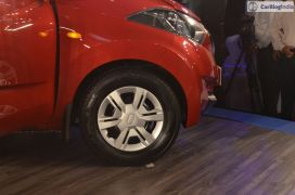 2016 datsun redi go official launch green front tyre