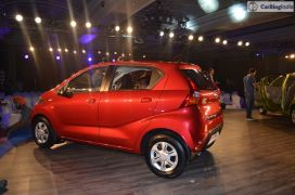 2016 datsun redi go official launch red rear side
