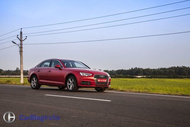 new 2016 audi a4 test drive review india images action front angle