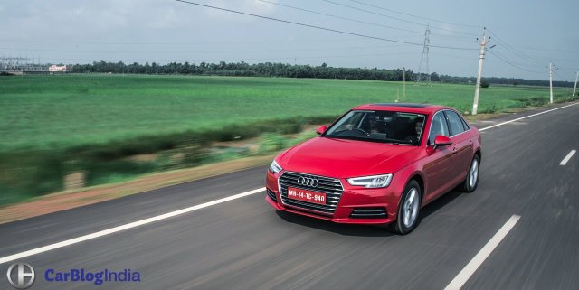 upcoming new cars in india 2017 new 2016 audi a4 test drive review india images action front angle