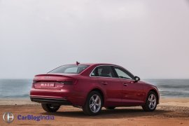 new 2016 audi a4 test drive review india images rear angle