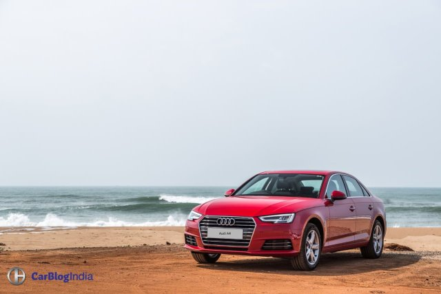 new 2016 audi a4 test drive review india images front angle