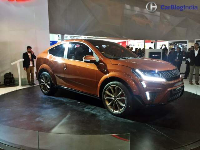 Mahindra XUV Aero Price 20 lakh, launch in 2019, Specifications, Design mahindra-xuv-aero-coupe-auto-expo-images-front-angle