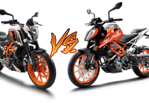ktm 390 duke old vs new model