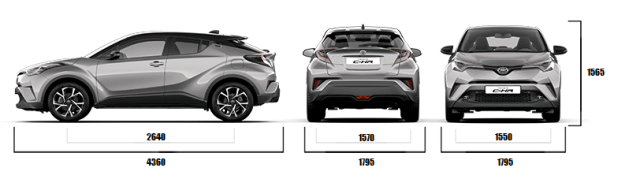 2017 toyota c hr india official image dimensions